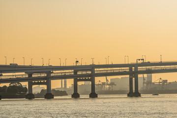 夕方のレインボーブリッジ Rainbow Bridge in Tokyo