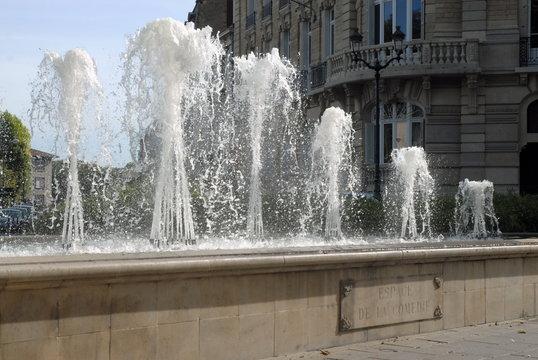 Ville d'Epernay, Jeux d'eau Espace de la Comédie, département de la Marne, France