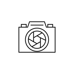 camera lens icon. Element of video products outline icon for mobile concept and web apps. Thin line camera lens icon can be used for web and mobile