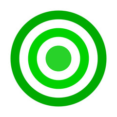 Target sign - green shades simple transparent, isolated - vector