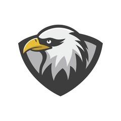 Eagle vector logo mascot animal logotype illustration emblem isolated cartoon