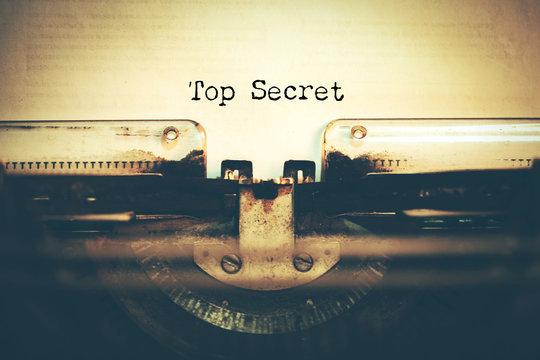 top secret with typewriter
