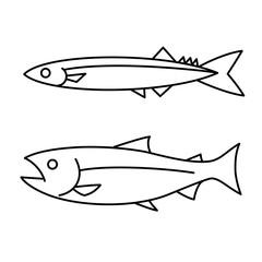 秋刀魚と鮭