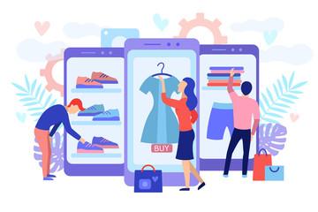 Mobile shopping consept.