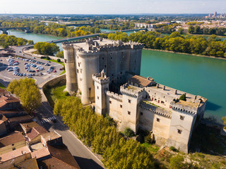 Aerial view of Chateau de Tarascon