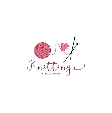 Tailor Sewing Knitting Vintage, Needle, Yarn, Fashion Retro Simple Logo, Sign, Icon Template Vector Design