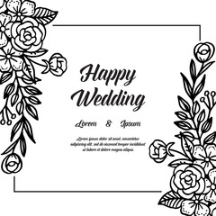 Spring ornament concept for wedding invitation card vector art