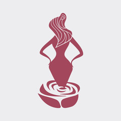 Female silhouette with an hourglass figure vector
