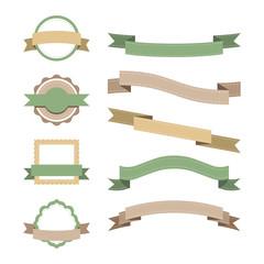 Set of pastel badge design vectors
