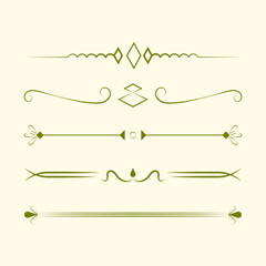 Ornaments collection vector design concept