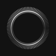 Premium ornament round design vector