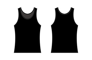 women's tank top template illustration / black