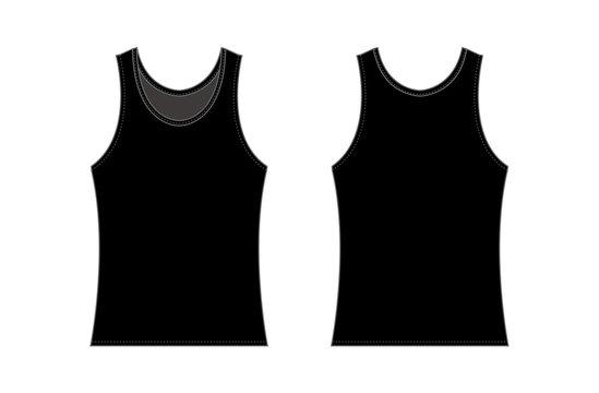 women's tank top template illustration / black