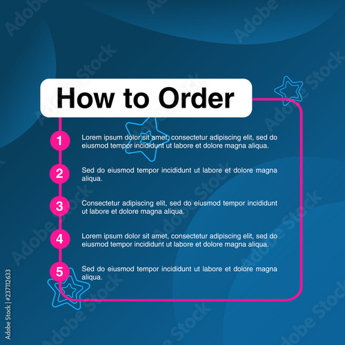 template illustration how to order format order online payment