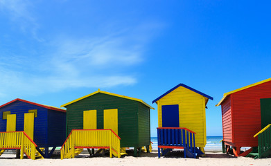 Beach huts in Muizenberg, South Africa