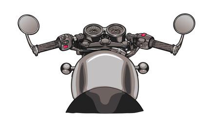 Bike steering wheel flat design vector draw