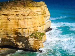 Rocks in the ocean near the great ocean road