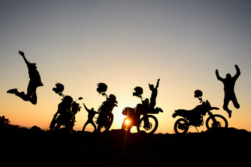 energetic and enthusiastic motorcyclist team