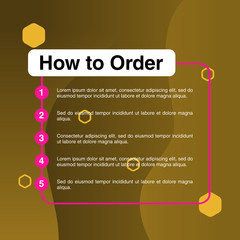 template illustration how to order, format order, Online payment, Payment options, call to action, online shop, social media. Modern design.