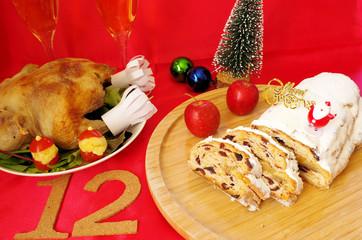 12月とクリスマスイメージ