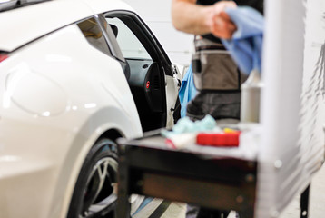 Professional car window tinting service