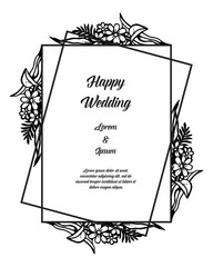 flowers vector design card for wedding