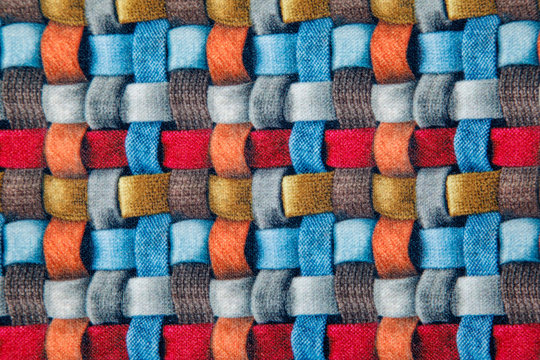 red blue and brown wicker fabric canvas for upholstery furniture