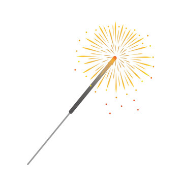 colorful party sparkler isolated on white background vector illustration EPS10