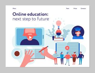 Online Education Concept Banner