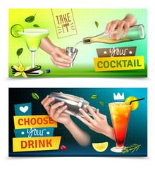 Bartender Banners Set