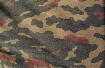 Old camouflage cloth.