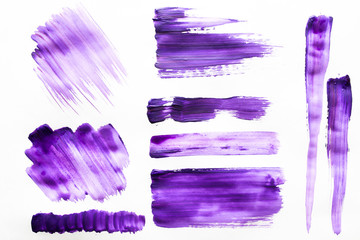 Brush strokes with watercolor paint on paper Brush strokes with watercolor paint on paper