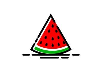 watermelon fruit logo, mbe style