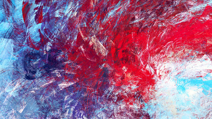 Winter morning. Cold blue winter pattern. Abstract painting bright color texture. Modern artistic motion background. Fractal artwork for creative graphic design