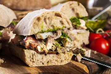 Italian porchetta sandwich