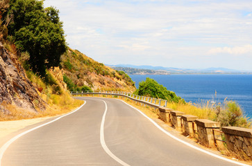 Road along the Italian coast