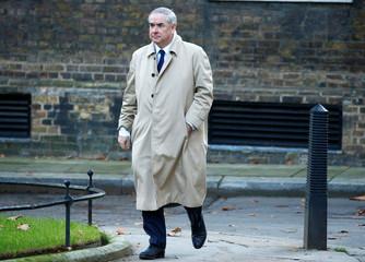 Britain's Attorney General, Geoffrey Cox, arrives in Downing Street, London