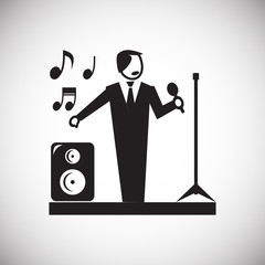Wedding singer icon on white background for graphic and web design, Modern simple vector sign. Internet concept. Trendy symbol for website design web button or mobile app