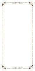 金属の質感のバロック調のオーナメント・飾り罫・飾り囲み(チョーク調 Baroque ornament