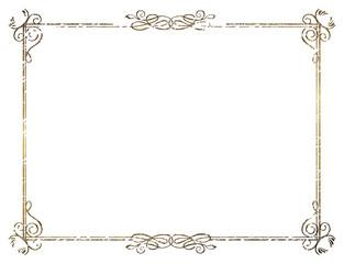 金属の質感のバロック調のオーナメント・飾り罫・飾り囲み(チョーク調|Baroque ornament