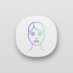 Woman face app icon