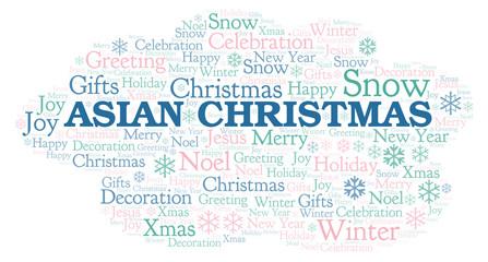 Asian Christmas word cloud.