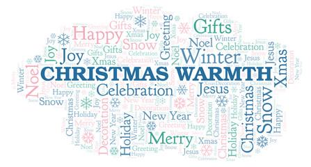 Christmas Warmth word cloud.