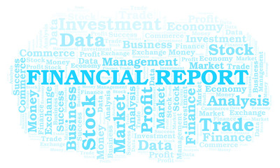 Financial Report word cloud.