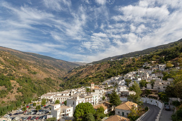 View of the town and surrounding countryside, pueblo blanco, Casares, Costa del Sol, Malaga Province, Andalusia, Spain, Western Europe