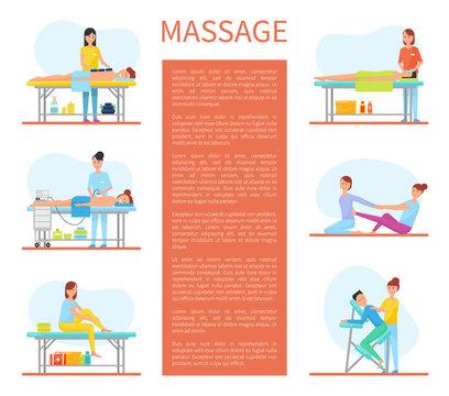 Medical Massage Room Cartoon Sample Banners Text