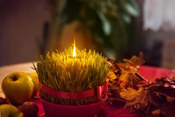 Christmas wheat. Christmas decoration. Christmas offerings.
