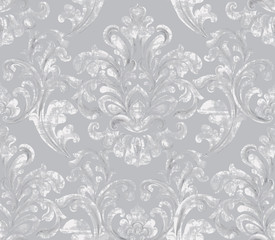 Vintage baroque ornamented background Vector. Royal luxury texture. Elegant decor design in old grunge style. Pastel colors