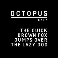 Trendy sans serif font in uppercase (bold version)