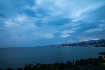 Long Exposure Landscape Sky ,Clouds and Sea